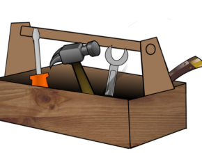 wooden tool box skills screwdriver hammer