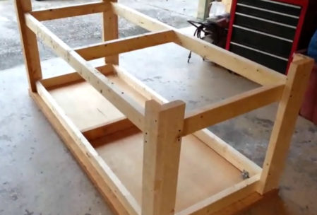 woodworking bench assembly