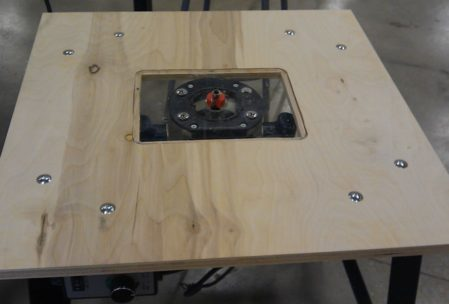 wooden frame router table woodworking