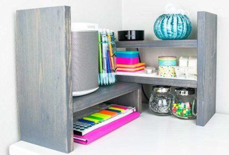 desktop organizer corner