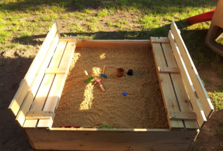 wood toy sandobox playground