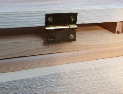wood toy sandbox hinges cover