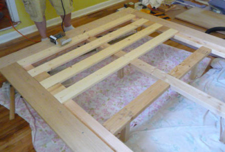Furniture plan bed frame slats