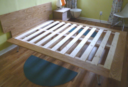 Furniture plan bed headboard frame slats