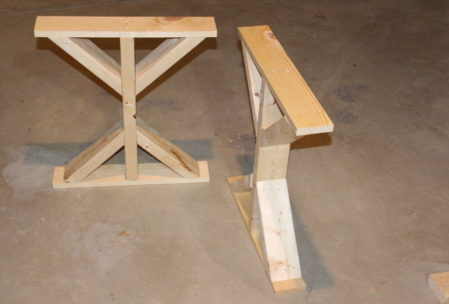 wooden desk DIY short pieces nail