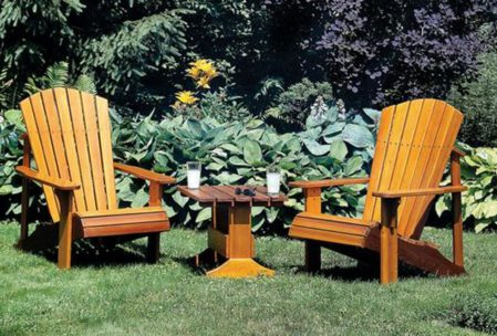 Adirondack Chairs and Table final products